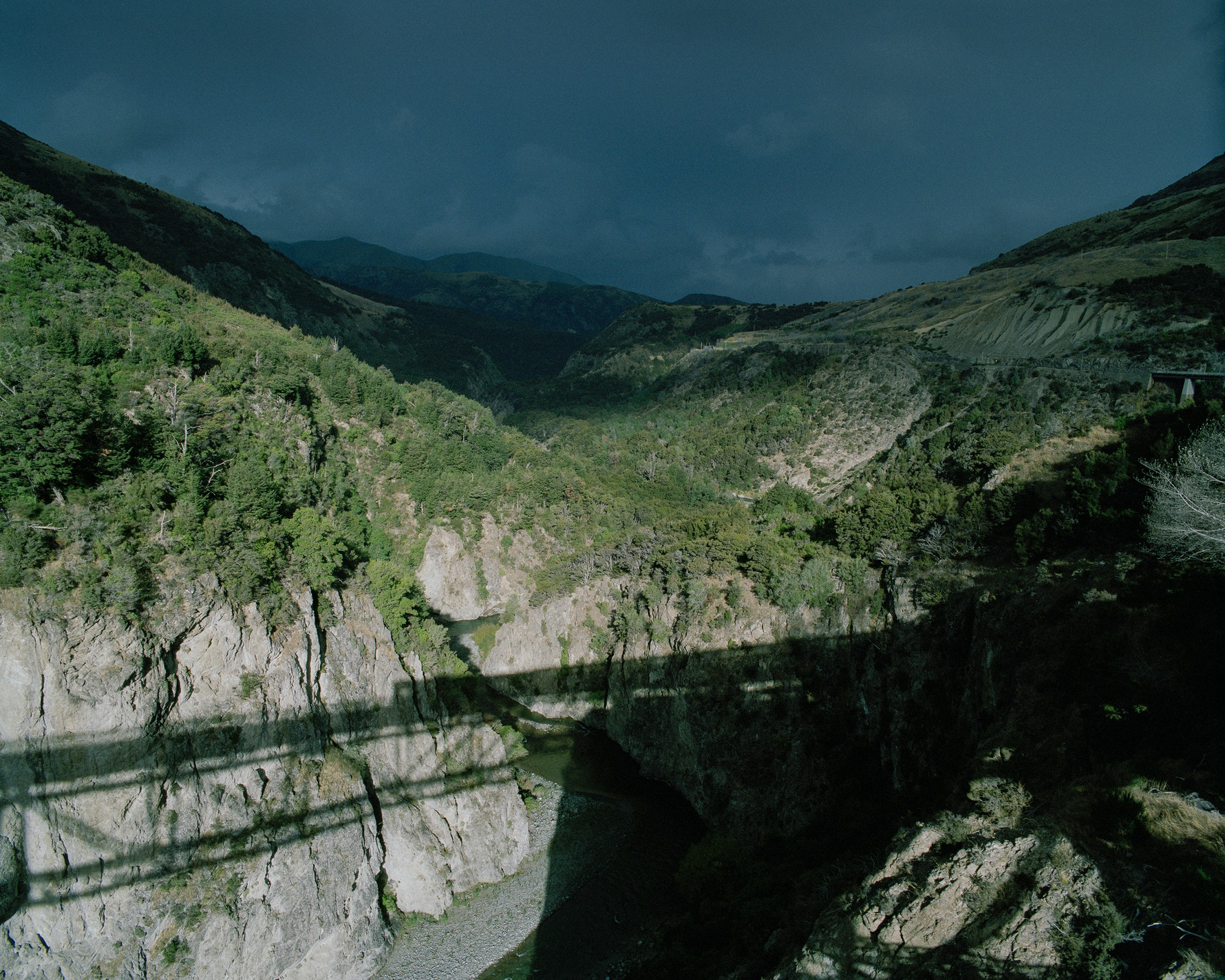 Waimakiri Gorge, from the Midland Line 2015