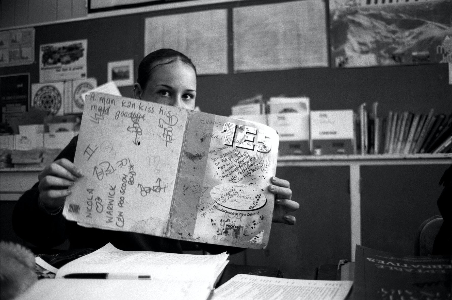 Student, classroom, Aranui High School