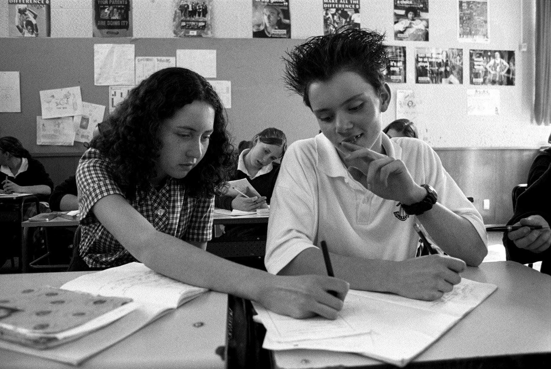 Students, classroom, Cashmere High School