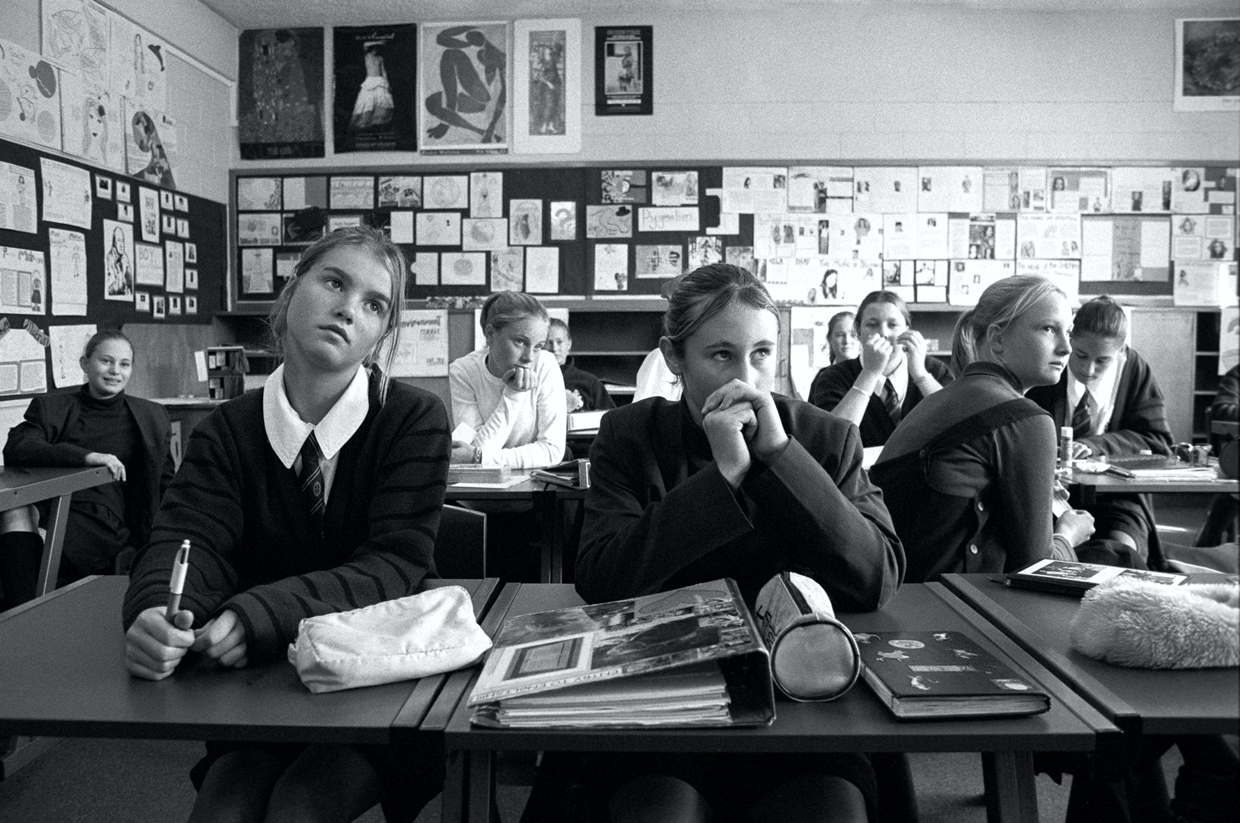Students, classroom, St. Margaret's College