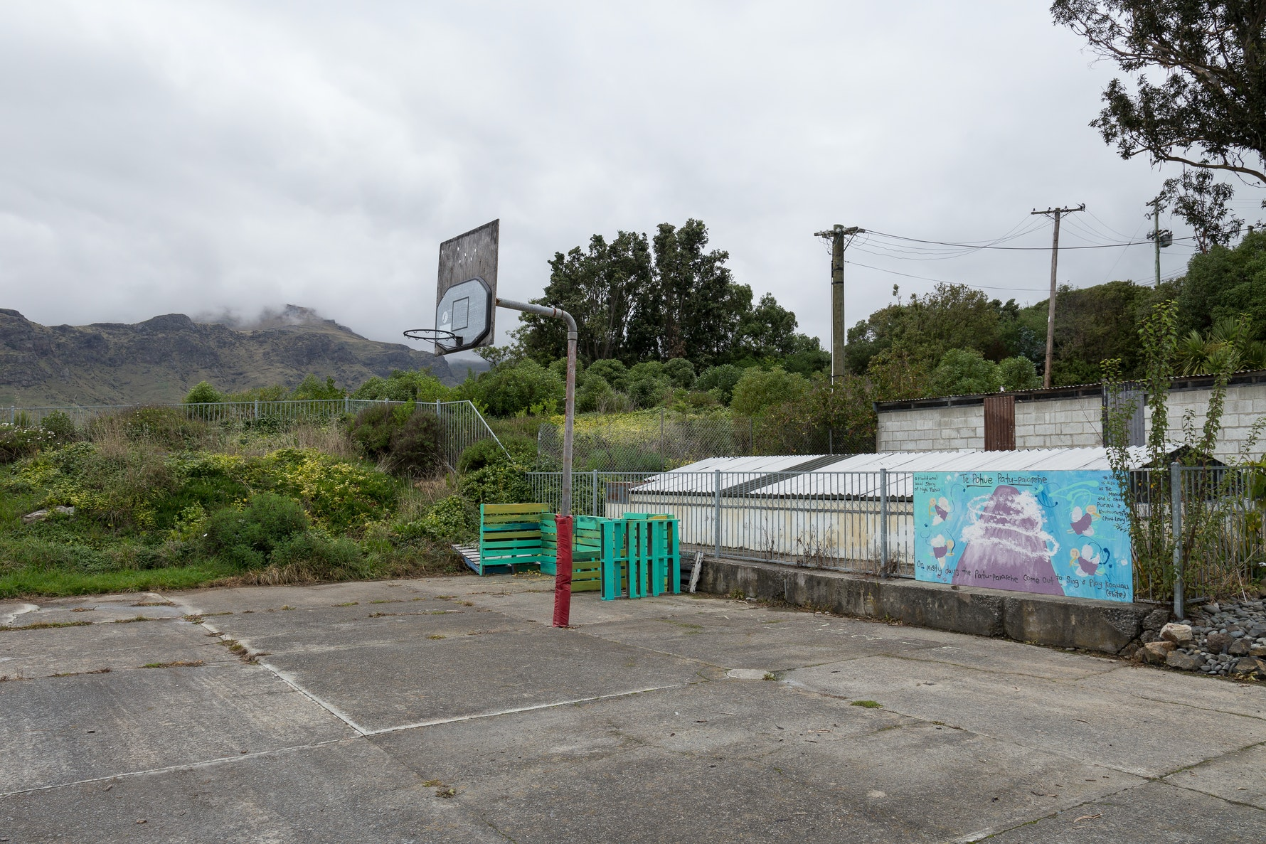 Diamond Harbour Playcentre looking towards Mount Herbert, Te Ahu Pātiki.