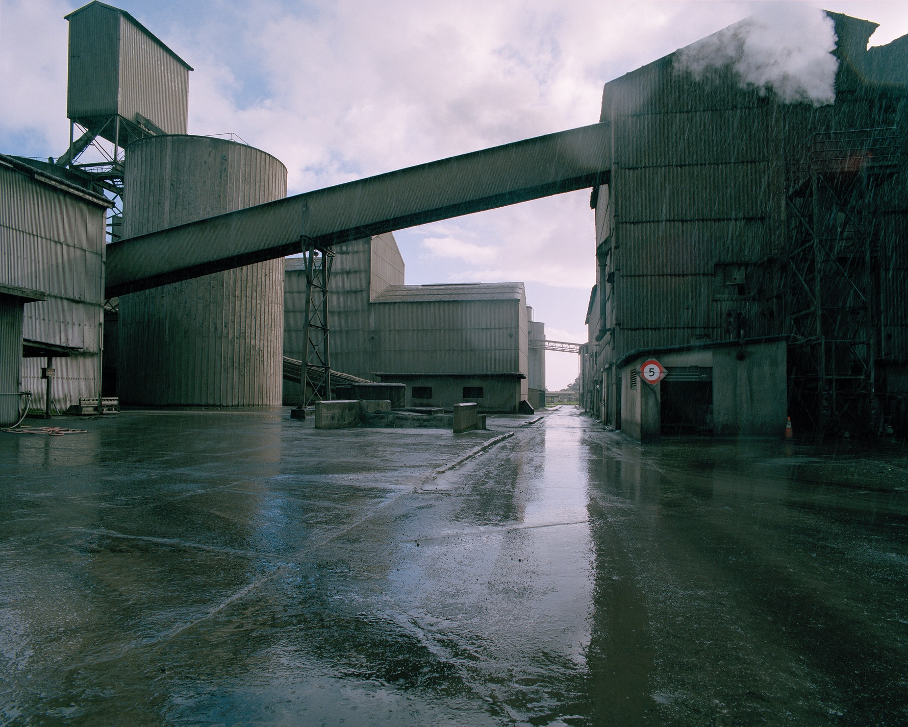Holcim Cement Plant in rain,  Cape Foulwind, 2016