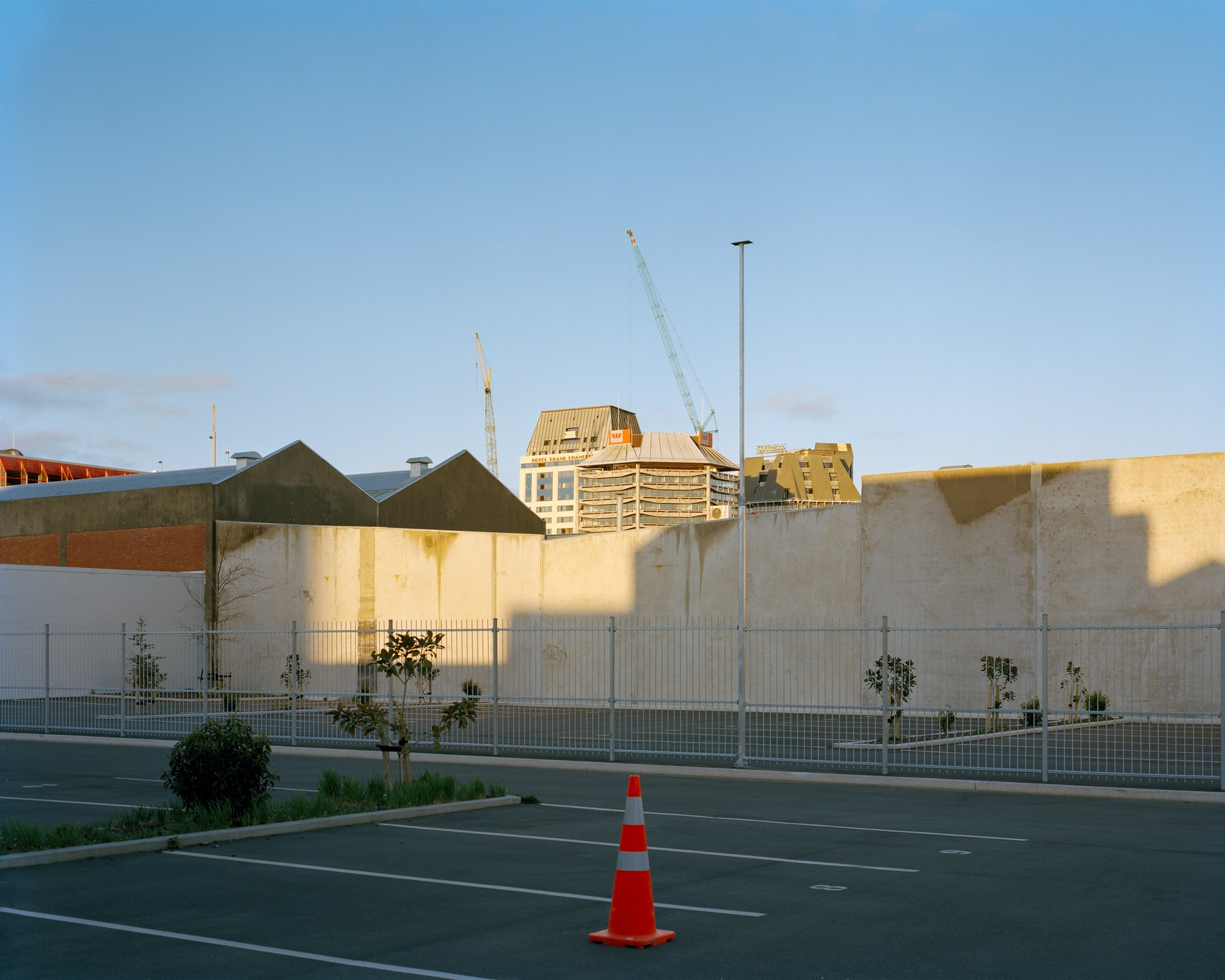 Towards Hotel Grand Chancellor, Holiday Inn and Westpac buildings, from corner of Tuam and Durham Streets, 2011.