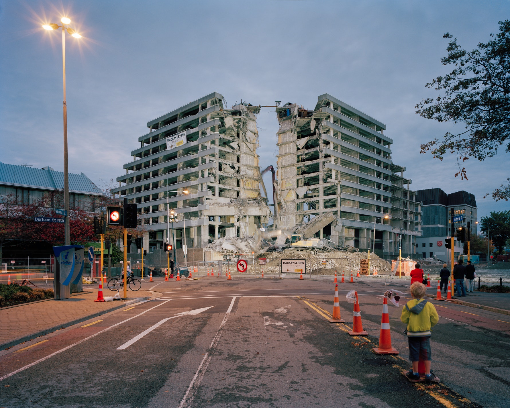 Demolition of Crowne Plaza Hotel, formerly Park Royal Hotel, Victoria Street, 2012.