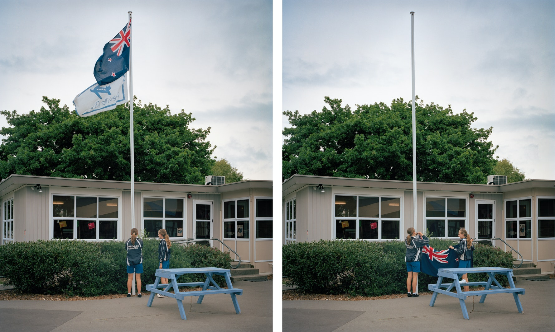Freeville School, Flag Lowering.