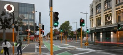Twenty sets of traffic lights in one intersection, what has become for many the ultimate sign of bureaucracy and health and safety gone mad within the post-earthquake recovery and rebuild environment.