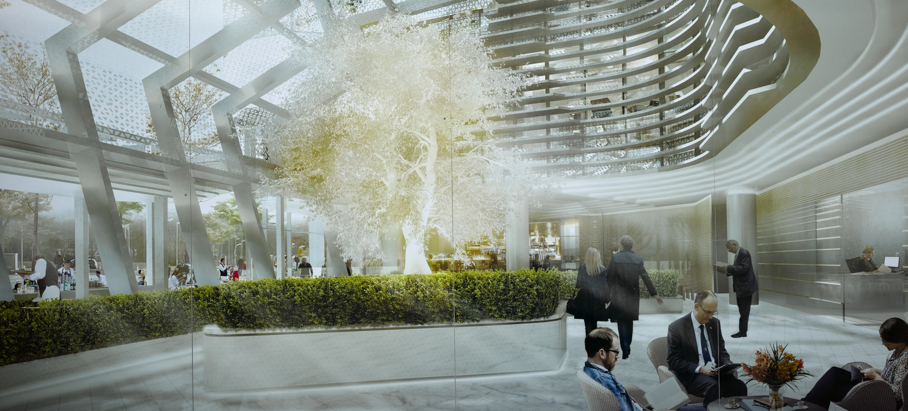 Architectural Rendering of ANZ Centre, High Street, 2016.