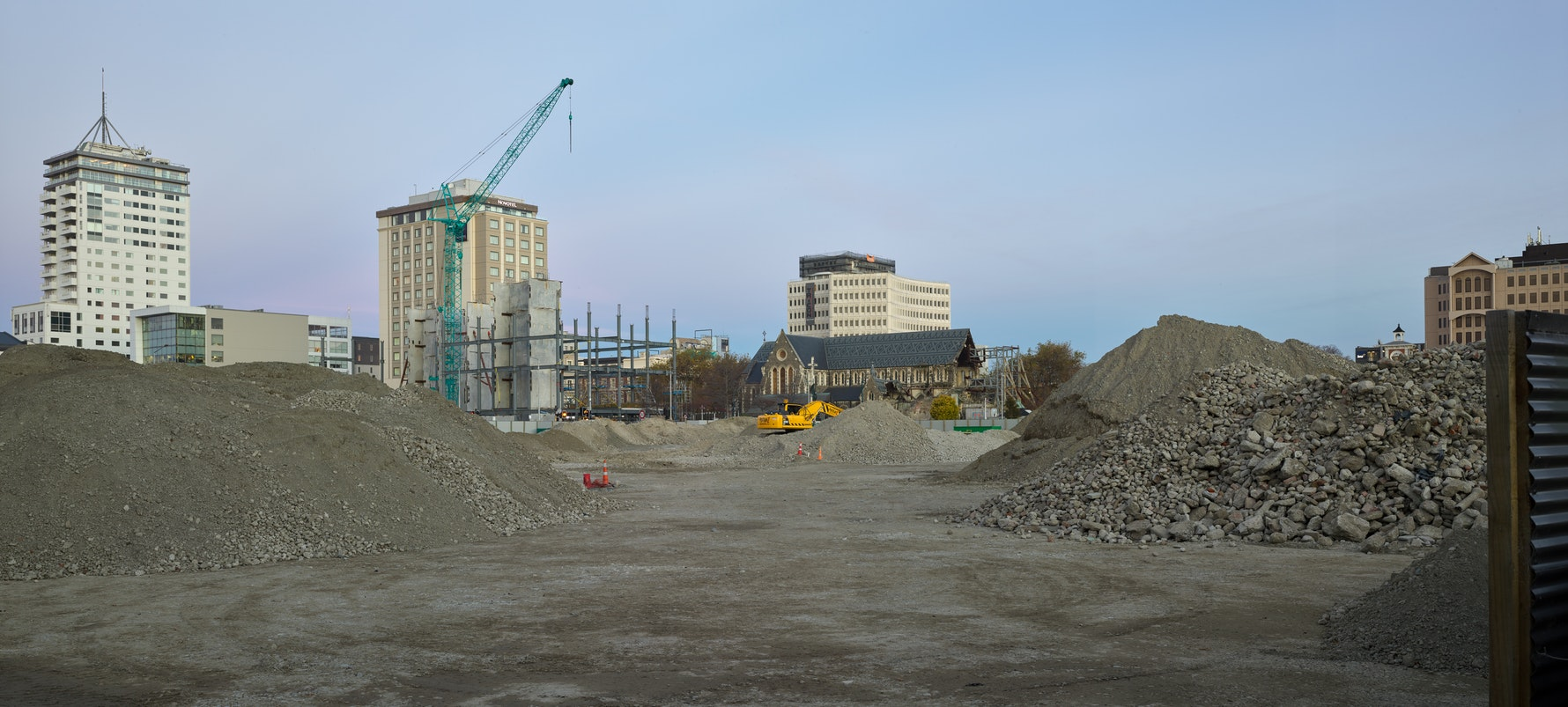 Site of new Convention Centre, corner of Oxford Terrace and Armagh Street, 2017.