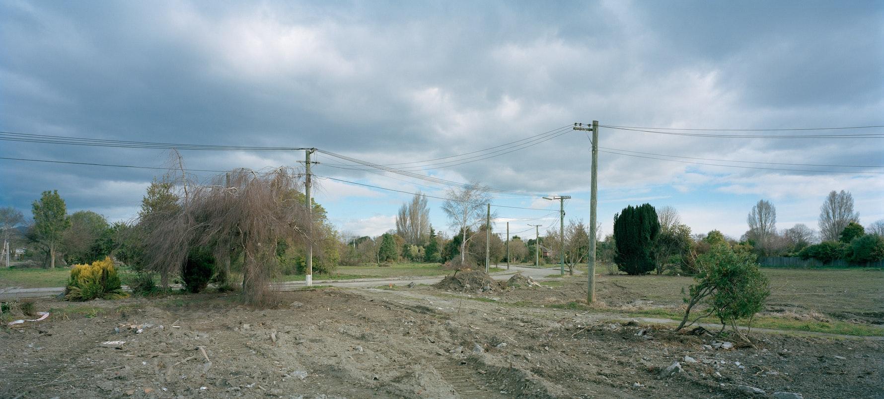 Maling Street, 2014. Demolished social housing area. Facing south.