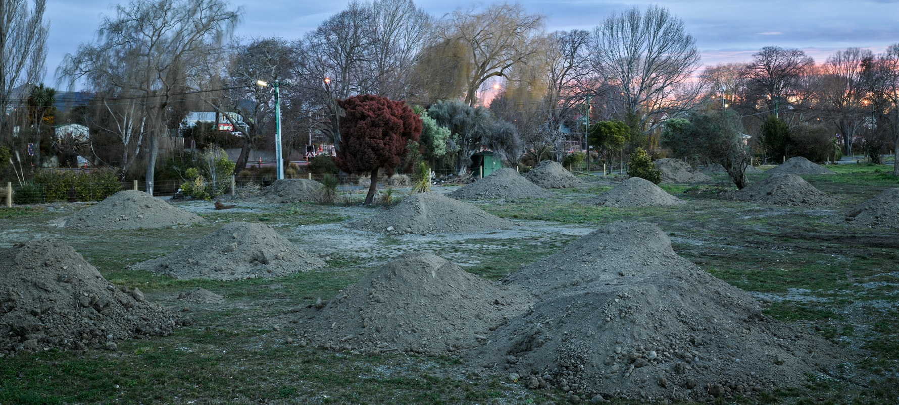 River Road, Avonside / Richmond, 2015. New soil for levelling of cleared land.