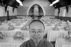 My name is Reverent Miao Shiu. I was born in Thailand and was brought up by my family as a Buddhist. I studied at the Buddhist college for four years and became a teacher, then I was considered suitable to become a master. My full title is Venerable Reverent Master. For me, monastic life is very beautiful. Being a master enables me to work with people, and I believe I have it in my heart to help them. The purpose of Buddhist philosophy is to release yourself from the worries of the world and from all the bad things like hatred and greed. How this happens varies for different people. It depends on what sort of personality they have and on the nature of their problems. Buddha has different teachings, and I teach people in different ways.The temple is important because it has the image of Buddha. Buddha symbolises perfection, purity and fulfilment. Human beings – all of us – are not perfect. So if we see the Buddha, we are reminded that we must be modest and humble. People come here and they can talk to the Buddha, like Christians talk to their God. They can tell Buddha anything, and the Buddha listens. They can also find a person to talk to or be close to. That is how it is special for me.